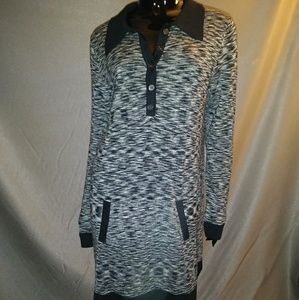 MISSONI Black & White knit shirt dress sz L